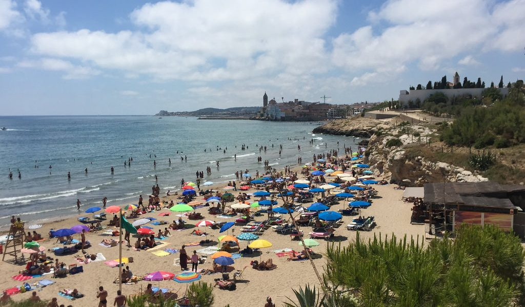 Balmins Beach in Sitges